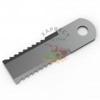 Нож измельчителя комбайна Claas 755874 зубчатый